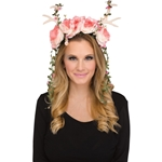 Pink-White-Floral-Fawn-Headepiece