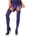Black-and-Purple-Striped-Thigh-High-Tights