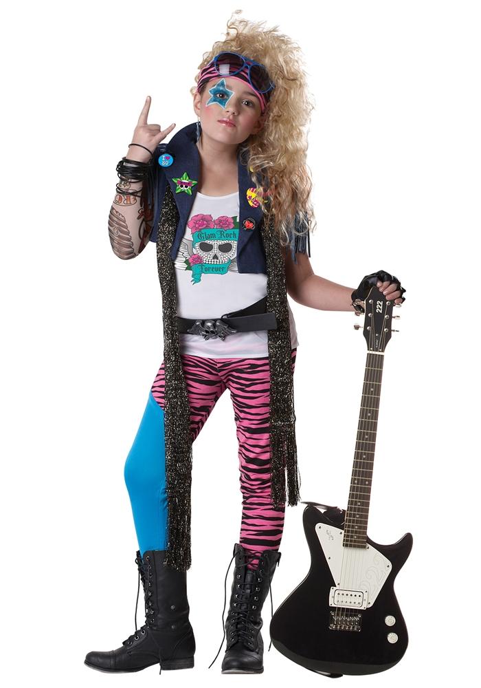 80's Glam Rocker Child Costume