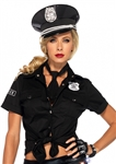 Police-Tie-Front-Adult-Womens-Shirt