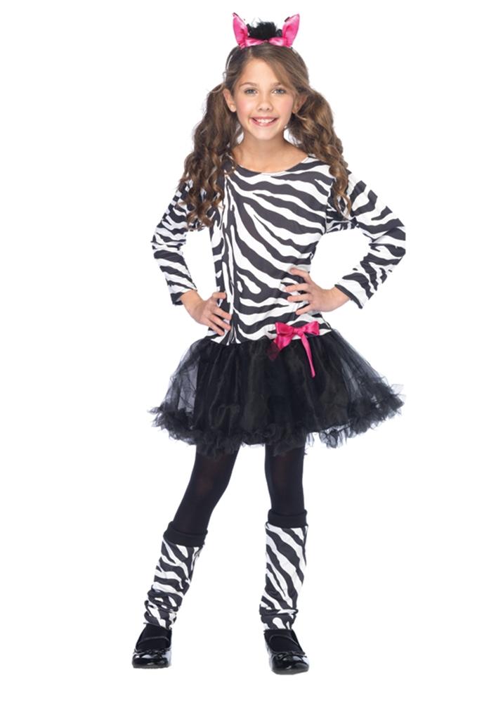 Little Zebra Girls Costume