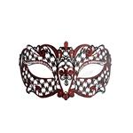 Metal-Venetian-Black-With-Red-Half-Mask