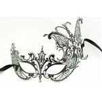 Metal-Venetian-With-Side-Butterfly-Black-Mask