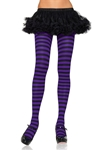 Black-Purple-Striped-Plus-Size-Tights