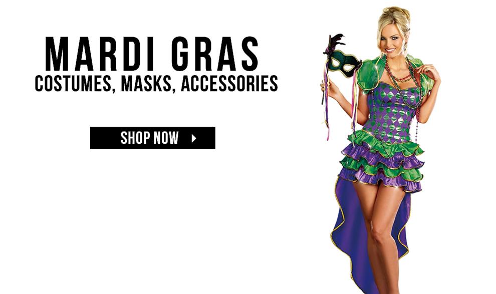 Mardi Gras Costumes via Trendyhalloween.com