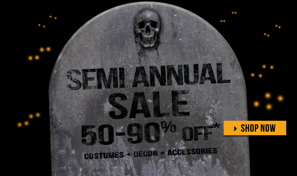 Semi Annual Sale via Trendy Halloween