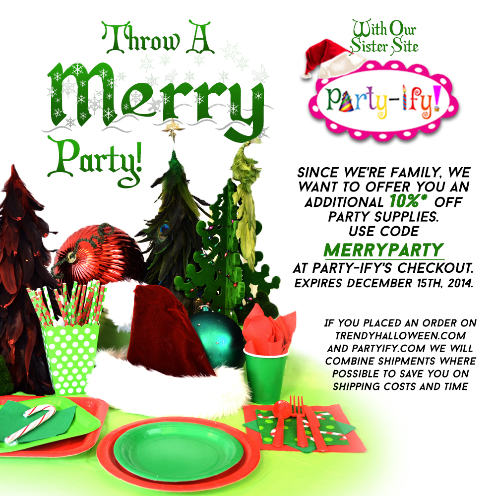 Holiday Party Supplies by Party-ify! Trendy Halloween's sister store